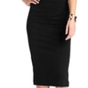 Vince Camuto Black Midi Skirt